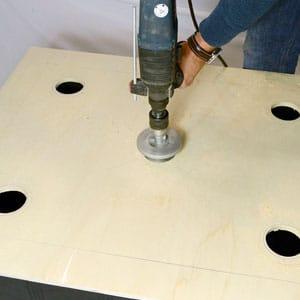 DYI bubble bucket drilling holes