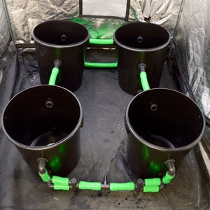 how to install 4 buckets connected