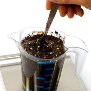 Measure soil step 4