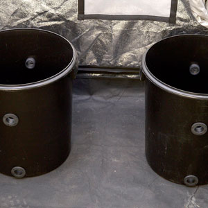 Two bucket with grommets