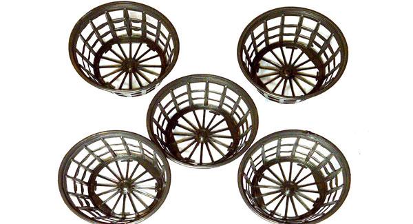 DIY bubble buckets net pots