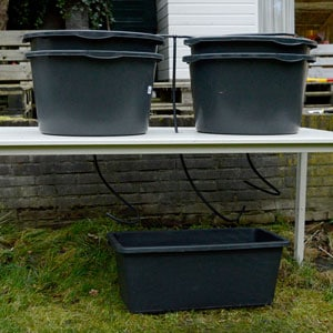Hose to the drip tubs