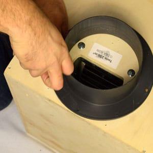 Install air inlet attach flange